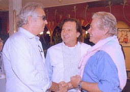 Mr. Flavio Briatore, Manager of two Formula One racing teams, & Egyptian Actor Hussein Fahmy